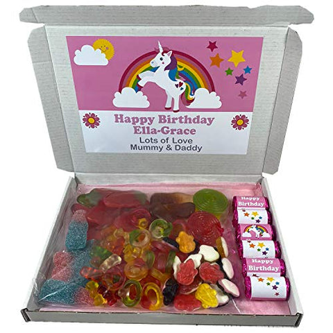 Personalised Unicorn Themed Sweet Gift Box Hamper