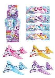 Unicorn Party Bag Fillers - Unicorn Aeroplane Gliders