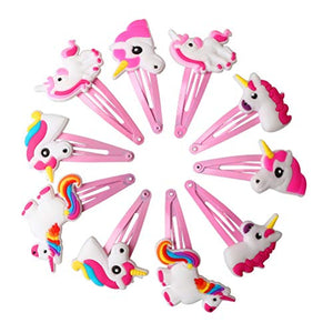 10 Pieces Unicorn Hair Clips | Hair Accessories For Kids | Gift Idea