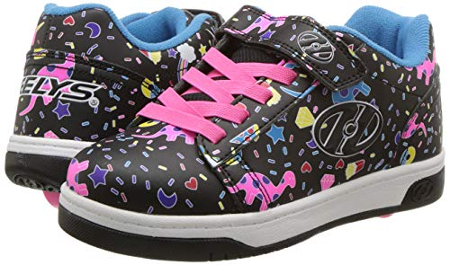 Heelys black pink girls trainer shoe