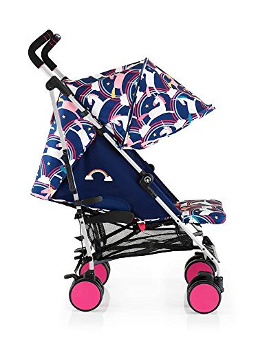 Cosatto super go baby pushchair push chair buggy pram easy to clean unicorn rainbow theme fold light