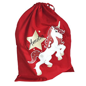 Personalised Unicorn Santa Sack (Large) For Gifts, Presents & Toys