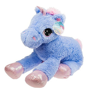 Large Unicorn Plush Soft Toy 80cm - Blue/Lilac
