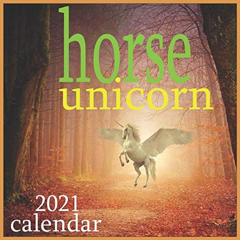 Horse Unicorn 2021 Calendar| 12 Monthly Wall Calendar