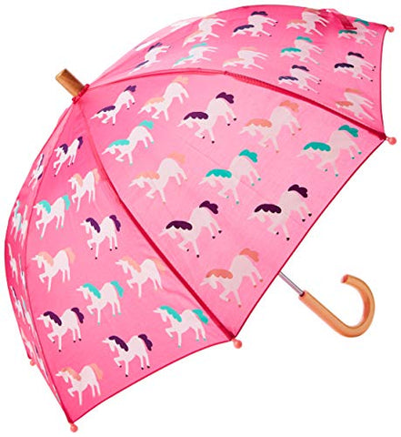 Hatley Girl's Mystic Unicorn Umbrellas, Pink , One Size