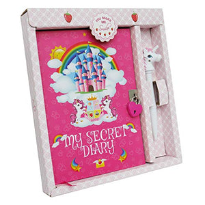 Unicorn My Secret Diary | A5 Notebook Pen Set with Padlock and Key