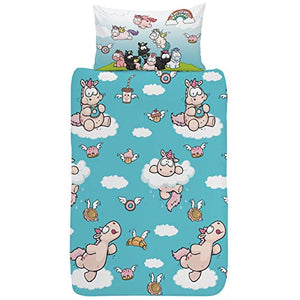 Funny & Cute Unicorn Design | Single Duvet Cover Reversible Bedding Set