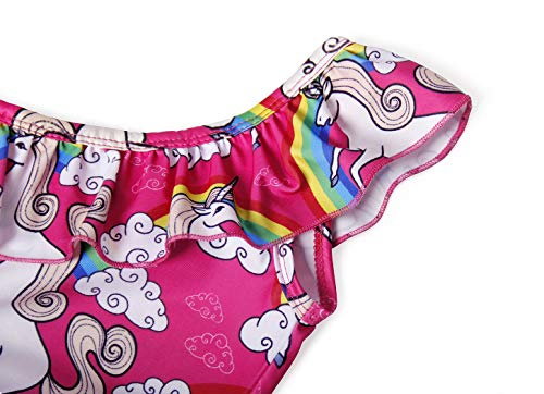 Unicorn Swimming Costume for Girls Pink 2 Piece Kids
