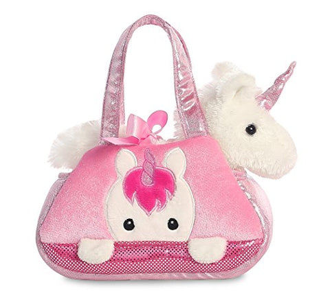 Aurora Fancy-Pal Peek-A-Boo Pet Carrier, Pink and White - Unicorn Gift For Young Children
