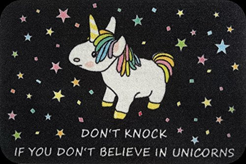Funny unicorn quote indoor doormat 40x60cm for fun loving fans