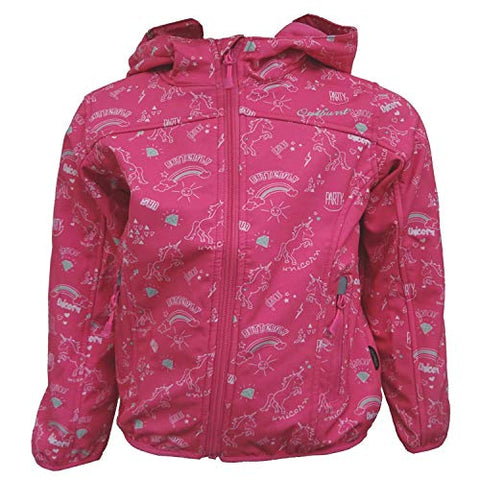Pink Girls Unicorn Rain Jacket | Windproof & Waterproof
