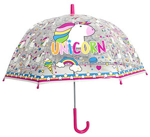Multi Coloured Unicorn Umbrella