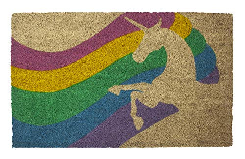 Unicorn Rainbow Coir Doormat