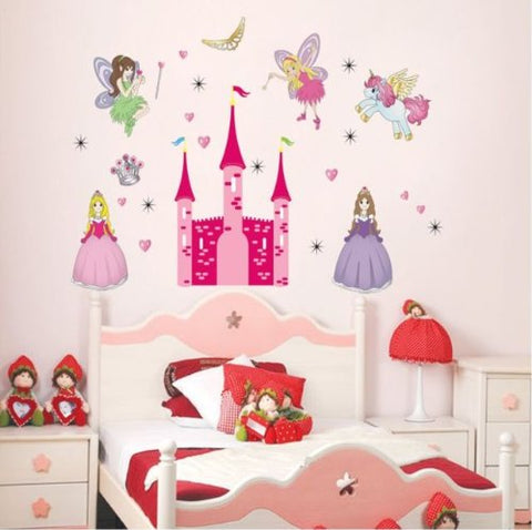 Unicorn fairies wall sticker for kids bedroom