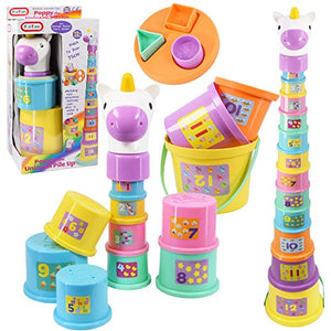 Unicorn Baby Toddler Stacking Nesting Sorting Cups Blocks | Baby Toy