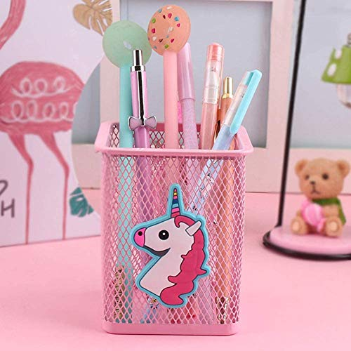 Metal Pink Unicorn Pen Pot | Organiser