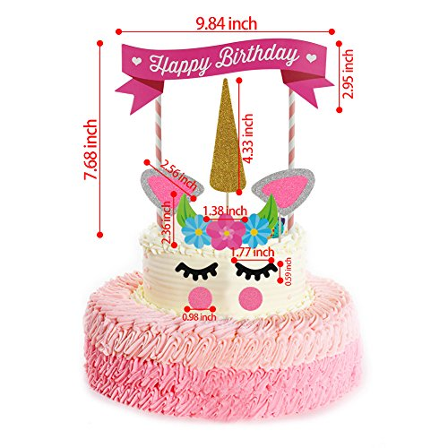 Rocita Unicorn Birthday Cake Topper Set Of 11 Decor For
