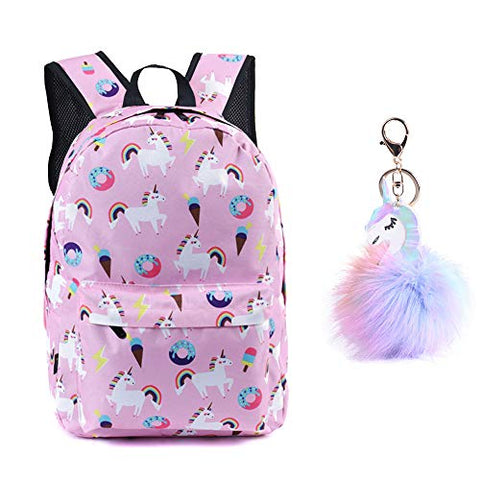 Unicorn pink backpack with free unicorn key ring