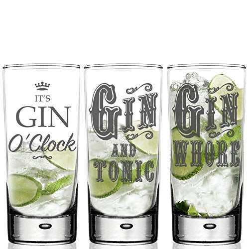 unicorn gin glass gift set