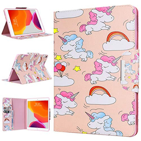 Unicorn Case for iPad 10.2 2020/2019, Cover for iPad 8th/7th Generation Lightweight Foldable Protective Shockproof Smart Shell Stand Case for iPad 7/iPad 8 10.2 Inch