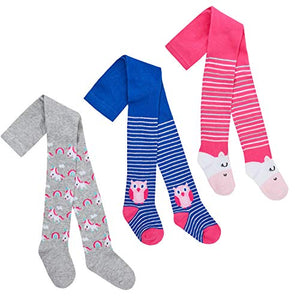 Cute Unicorn & Owl Multicoloured Tights | Girls | 0-24 Months