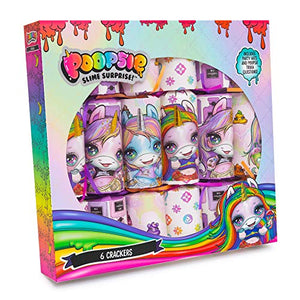 Poopsie Unicorn Slime Surprise | 6 x 12 Christmas Crackers | 6 Scented Fizzing Bath Bombs
