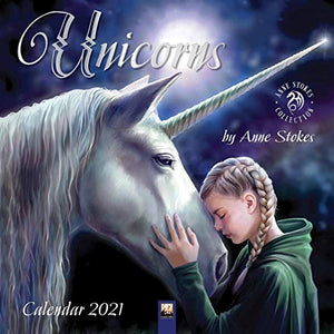 Anne Stokes Unicorns 2021 Wall Calendar Hanging Planner | Includes Sticky Dot Labels