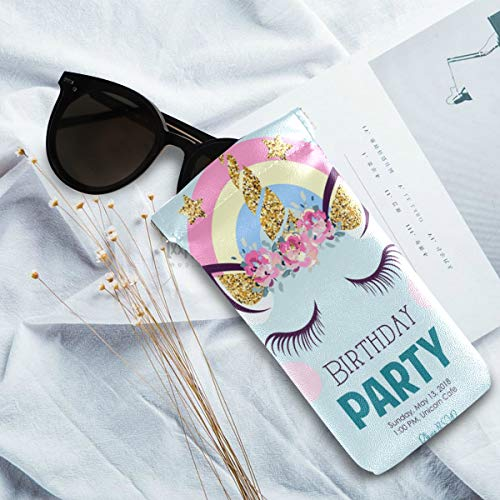 Unicorn sunglasses pastel case