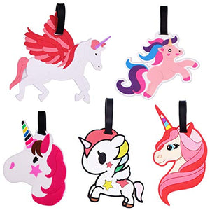 Set Of 5 Unicorn Luggage Tags For Suitcases