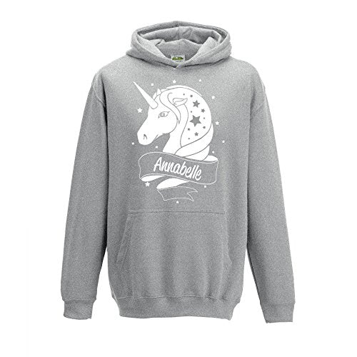 Personalised Unicorn White Glitter Hoodie - Adults