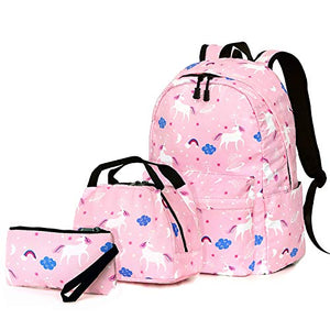 Unicorn girls backpack set