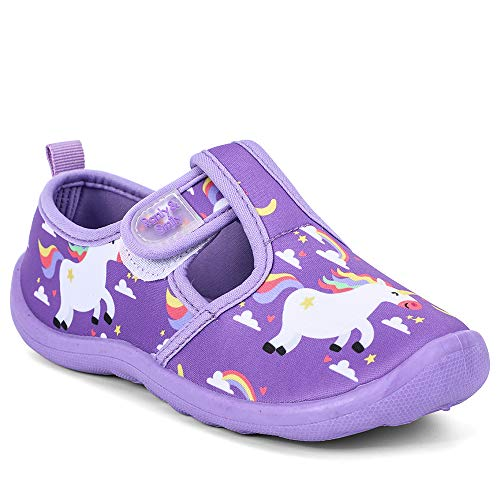 Unicorn purple design pool shoes children