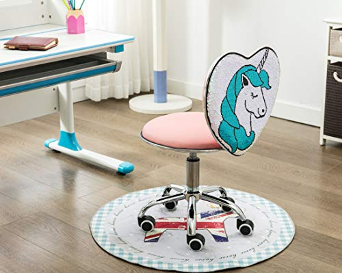 Cute Unicorn Office Homework Work Chair