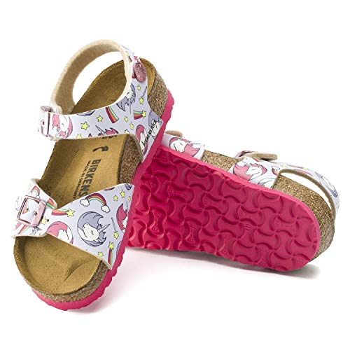 Pink soled Birkenstocks unicorn rainbow stars