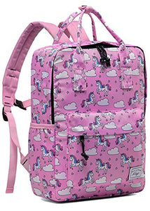 Unicorn Backpack for Girls, Children Lightweight with Chest Strap in Unicorn Pink