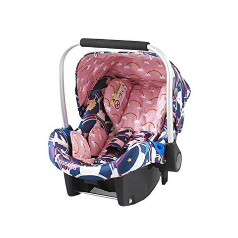 unicorn themed baby car set newborn pink blue isofix cosatto cossato
