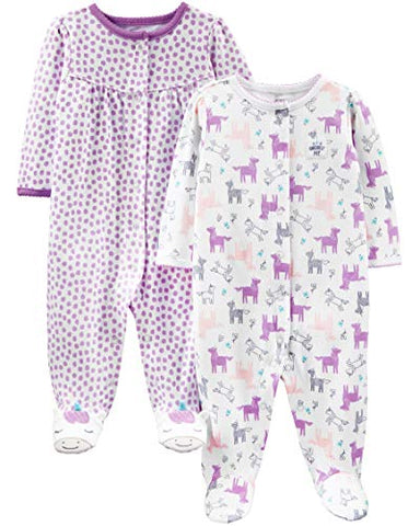Purple Unicorn, 0-3 Months Baby Sleepsuits, Newborn Gift Idea