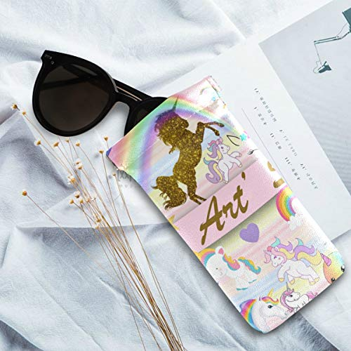Glitter unicorn sunglass case