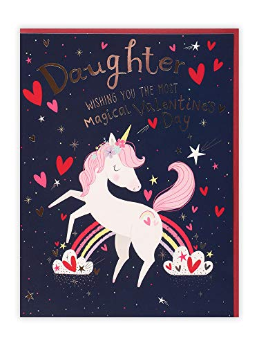 Unicorn Rainbow Daughter Valentine's Day Card | Clintons