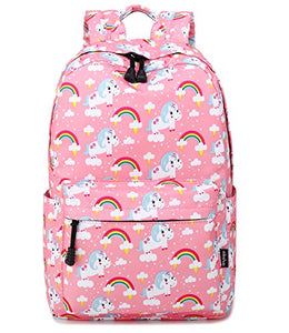Unicorn rainbow pink backpack