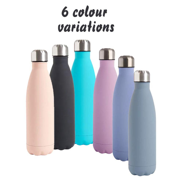Personalised Unicorn themed 500 ml Insulated Vacuum Stainless Double Wall Water Bottle Back to School Gift idea, (Pink)
