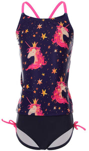 unicorn swimsuit for girls 6-14 years old
