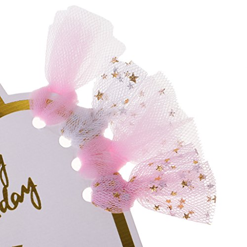 MagiDeal Novelty Happy Birthday Unicorn Cake Cupcake Topper Muffin Food Picks Sticks Birthday Party Cake Decor - Pink, as described