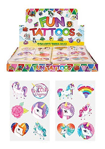 Unicorn Temporary Tattoos For Children's | 24 Pieces | Gift Idea