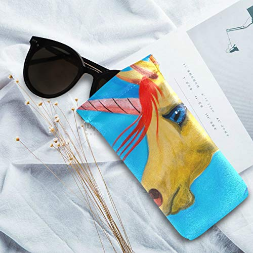 Watercolour unicorn glasses case