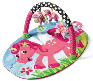 Bright, colourful Unicorn Baby Gym, Playmat