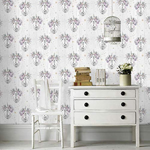 Fresco | Sparkle Unicorn Wallpaper | Living Rooms, Bedroom