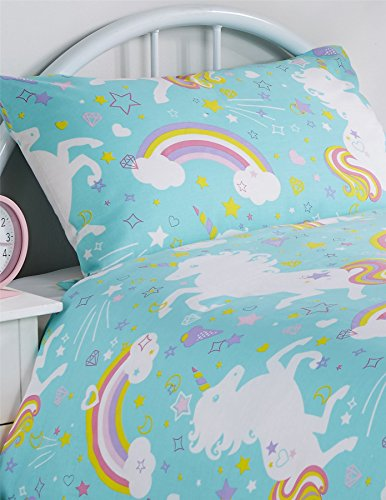 Girls Unicorn Duvet Cover Single