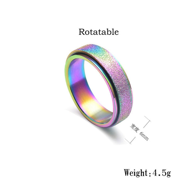 Rainbow Unicorn Ring For Girls and Women - Glittery Sparkle / Cute