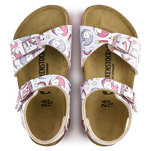 Unicorn Birkenstock girls sandals pink rainbows